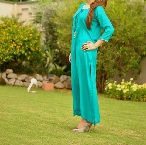 Andaaz-Formal-Summer-Eid-Dress-2013-For-Girls Women Long Kameez