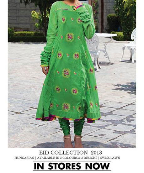 Bareeze-New-Eid-Collection-2013-for-Women-Green