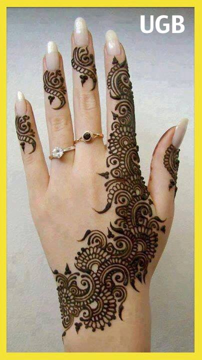 Chand Raat eid special mehndi designs 2013 Hand for Girls
