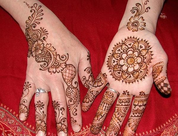Simple eid special mehndi designs 2013 For Hand for Girls