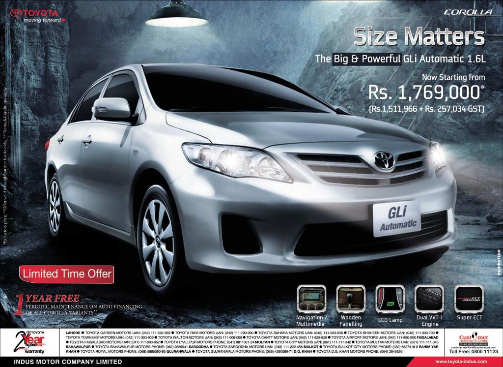gli 2014 price Toyota Corolla GLi 2014 Price in Pakistan and Specs