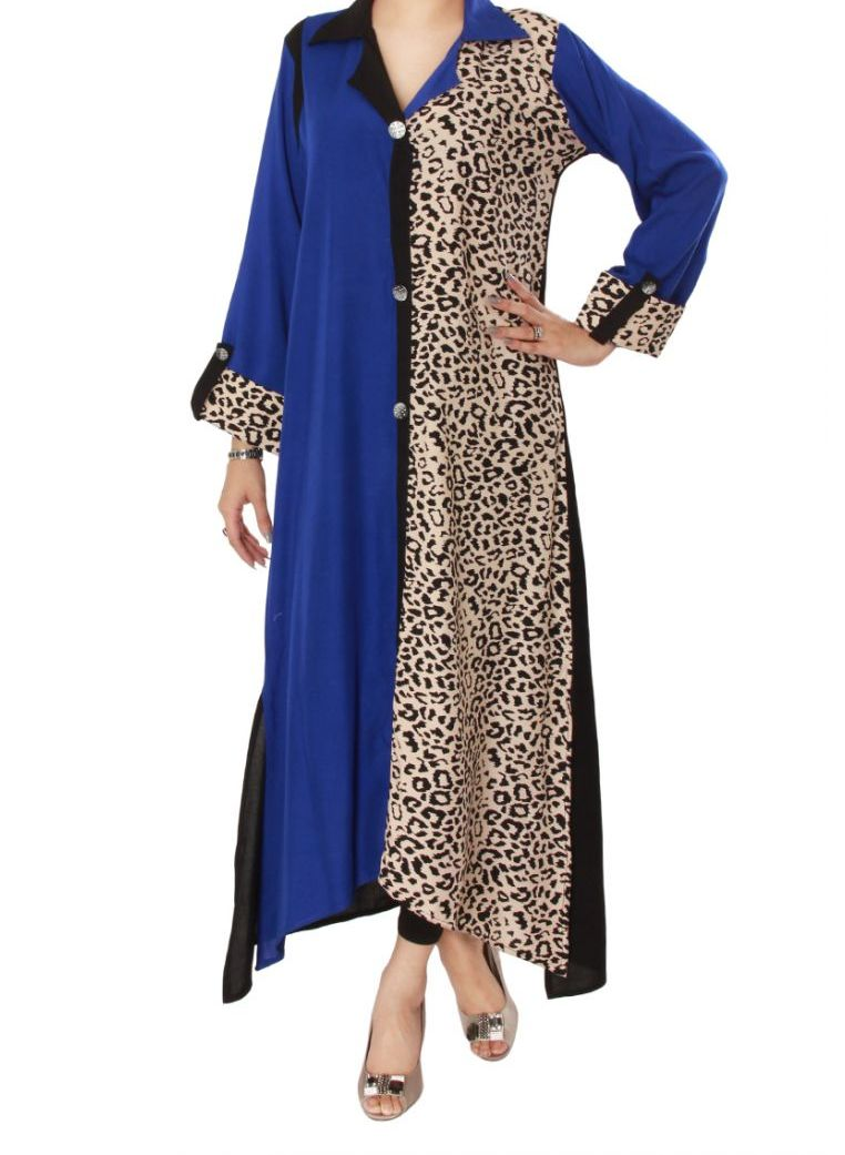 Side Printed collar Kurta Collection 2013 for Girls Women
