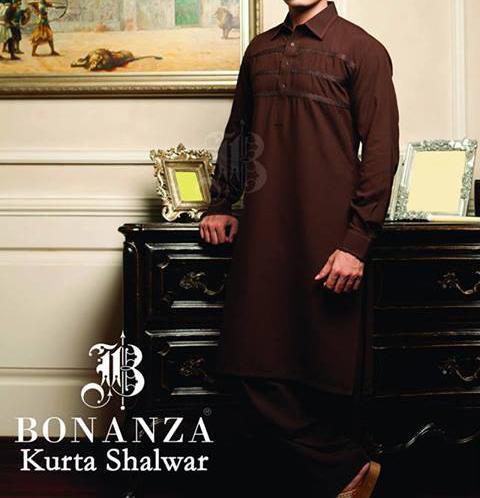 bonanza kurta shalwar Kameez 2013 winter collection for Men and Boys Gents