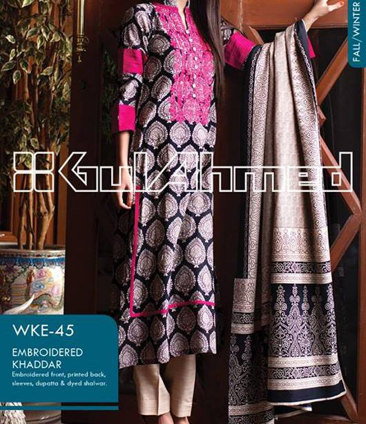 gul ahmed winter collection 2013 vol 2 for women Gul Ahmed Fall Winter Khaddar Magazine Collection 2013 vol 2