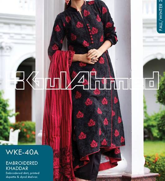 winter collection 2013 volume 2 for women Gul Ahmed Fall Winter Khaddar Magazine Collection 2013 vol 2