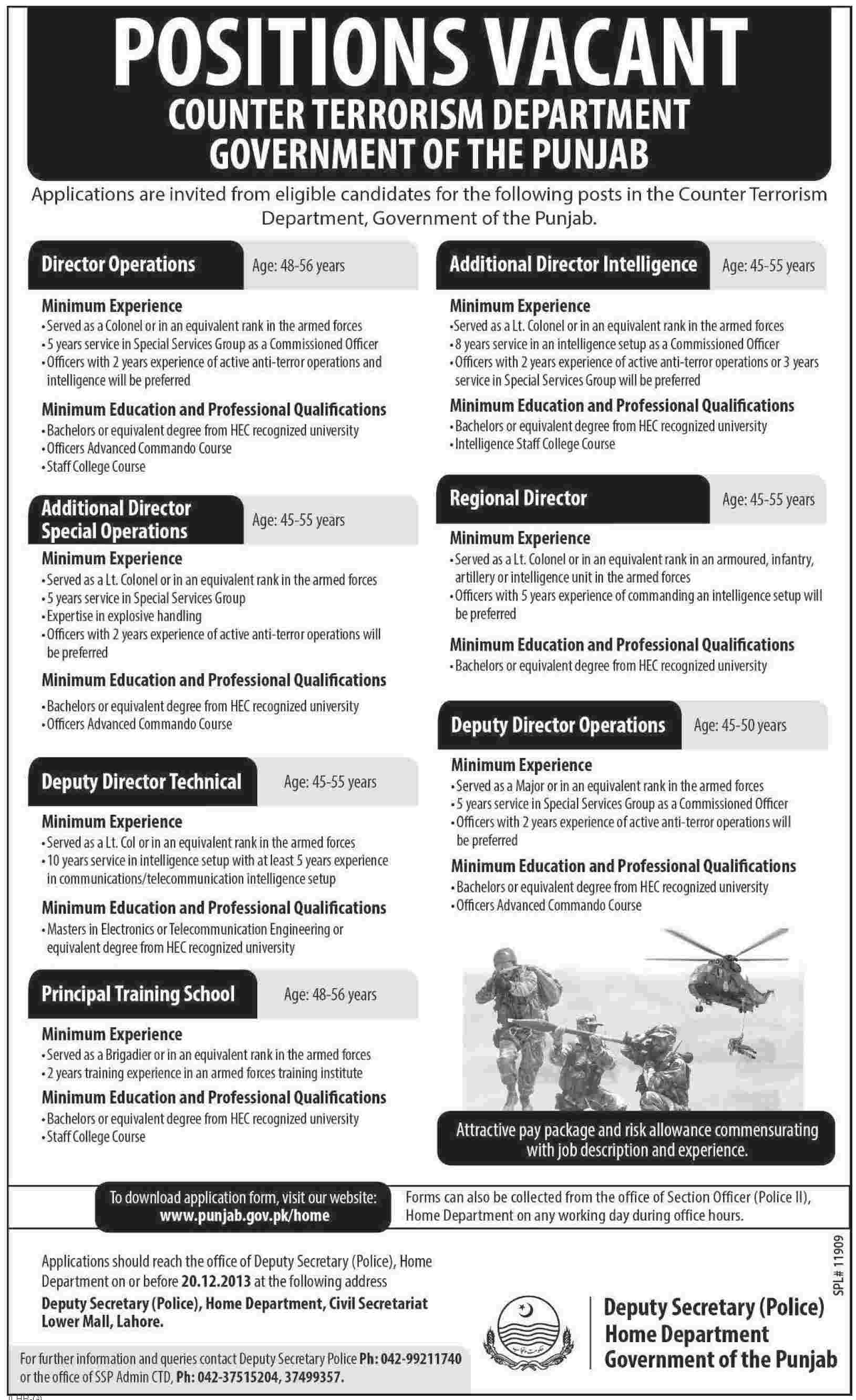 jobs at counter terrorism department govt of punjab Jobs at Counter terrorism Department Govt of Punjab