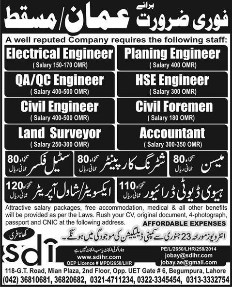 Civil Jobs: Civil Jobs Oman