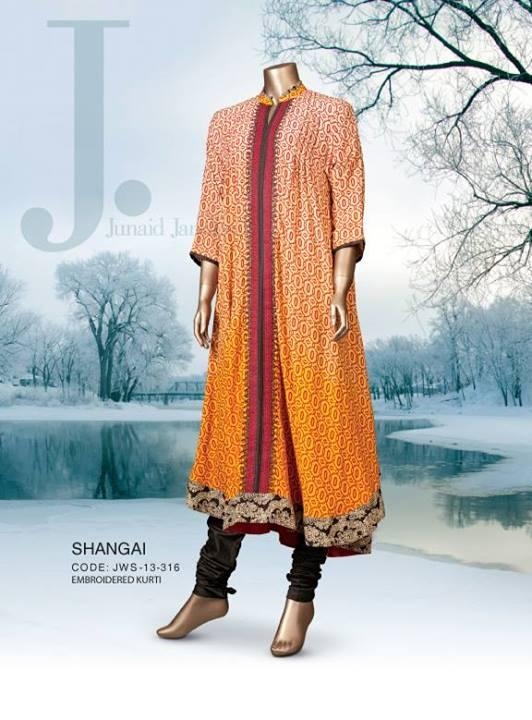 Junaid Jamshed WINTER COLLECTION 2014 Choori Pajama