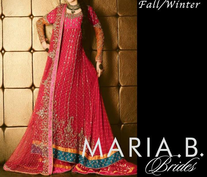 Latest Bridal Dresses Fashion Trend in Pakistan 2014 Collection