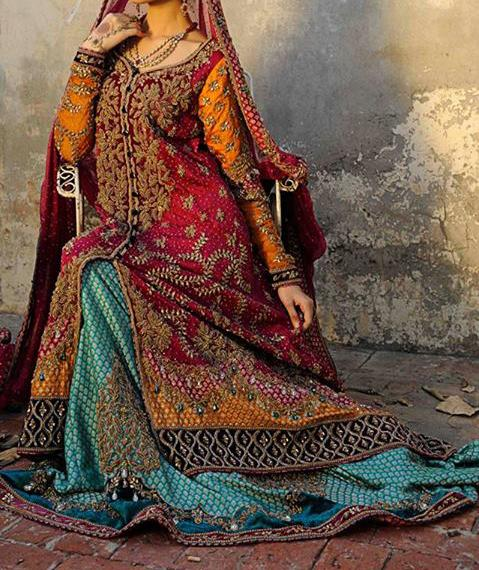 latest bridals dresses fashion trend in pakistan 2014 collection Latest Bridal Dresses Fashion Trend in Pakistan 2014 Collection