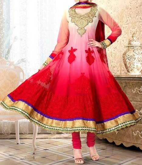 Latest-Fashion-of-Frock-Designs-2014-in-Pakistan Anarkali Choori Pajama