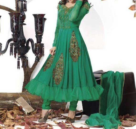 Latest-Fashion-of-Frock-Designs for Girls-2014-in-Pakistan