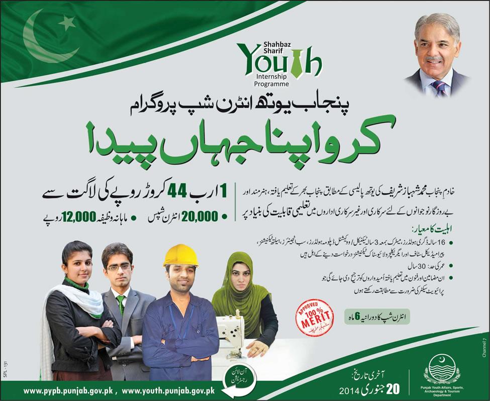 punjab youth internship program pyip Punjab Youth Internship Program (PYIP) 2014