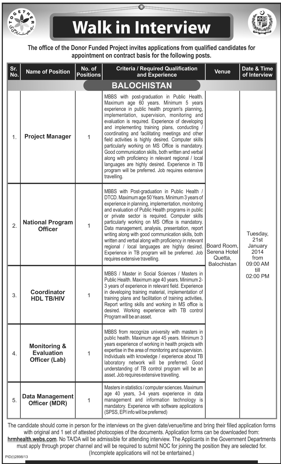TOGETHER-Pakistan-Jobs 2014