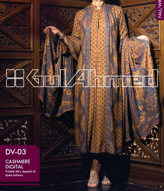 Gul Ahmed WINTER COLLECTION 2014 for Women Latest Fashion Trend