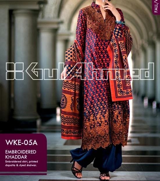 Gul Ahmed WINTER COLLECTION 2014 for Women