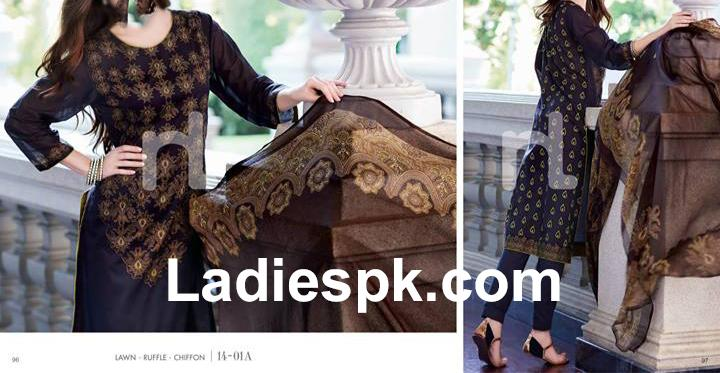 Beautiful Black Dress Nishat-Linen-Nisha-SPRING-SUMMER-2014