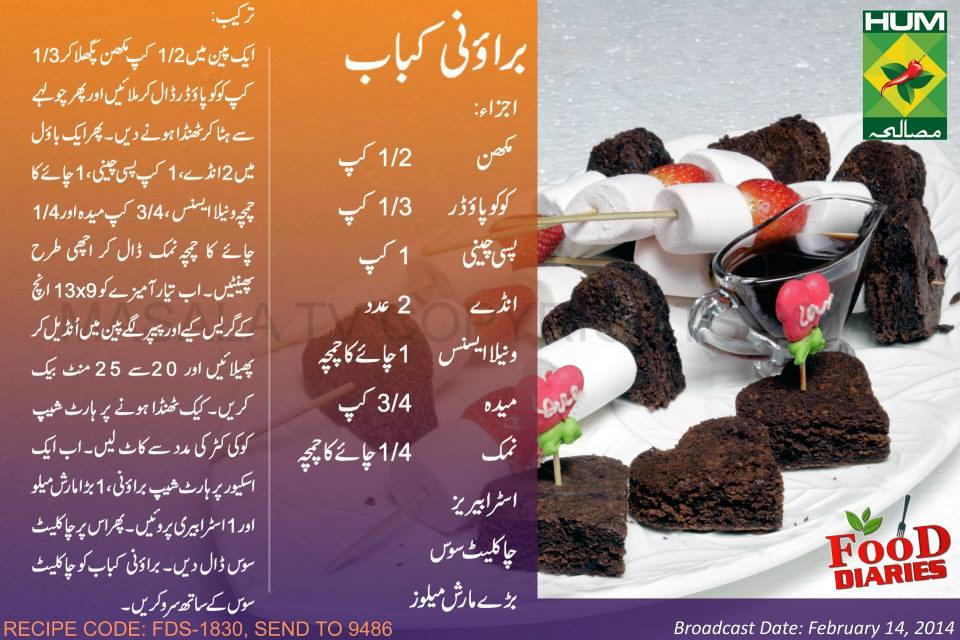 Chocolate Cake Recipe In Urdu Pakistan: Brownie Kebabs Recipe In Urdu English Rida Aftab Masala TV
