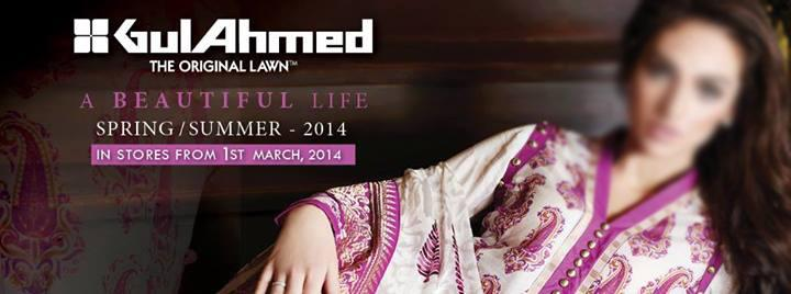 Gul Ahmed Spring Summer original Lawn Collection 2014 Price