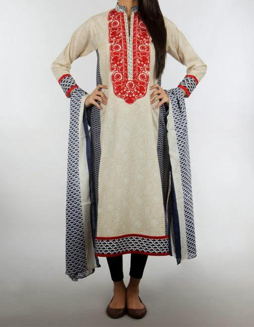 kameez long shirts with tight pajama fashion trend 2014 Latest Long Shirt & Kameez with Pajama Fashion 2014 for Girls
