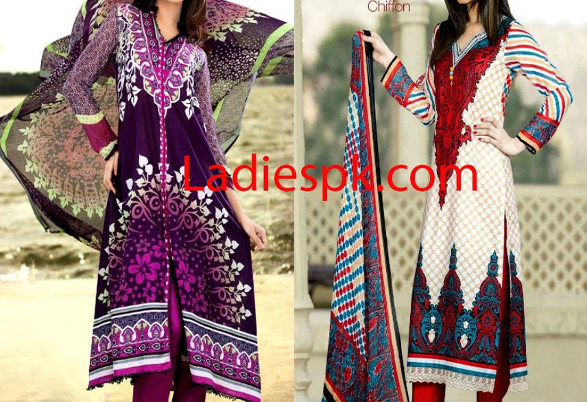 Latest Summer Lawn Shalwar Kameez Designs Collection 2014 Long Shirts for WomenLatest Summer Lawn Shalwar Kameez Designs Collection 2014 Long Shirts for Women
