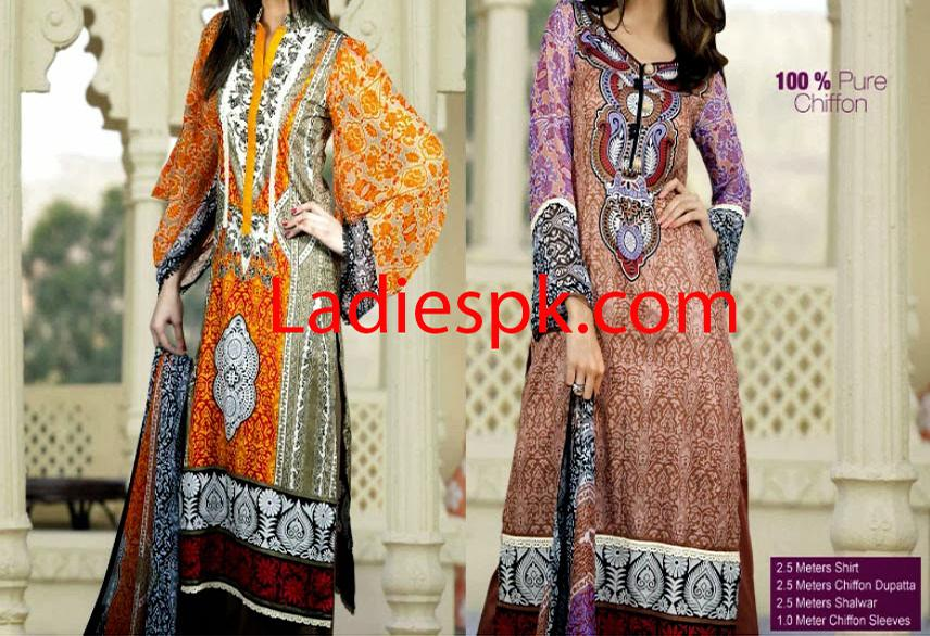 Latest Summer Lawn Shalwar Kameez Designs Collection 2014
