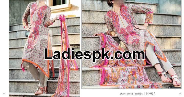 nishat linen nisha spring summer 2014 fashion trend in pakistan Nishat Linen Nisha Spring Summer Dress Collection 2014