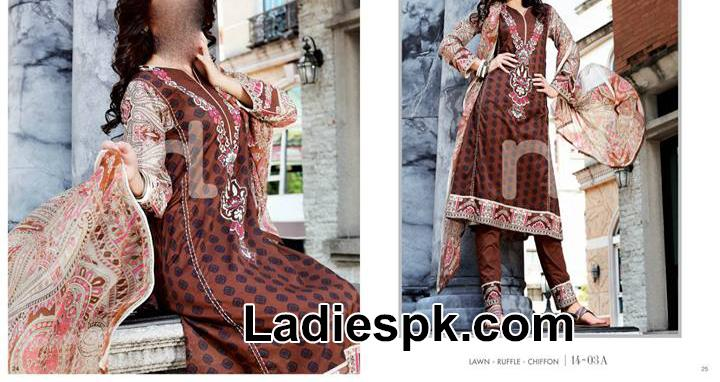 nishat linen nisha spring summer 2014 for women Nishat Linen Nisha Spring Summer Dress Collection 2014