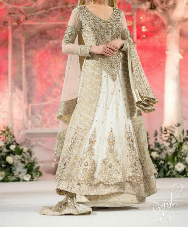 pakistani bridal dresses latest collection walima white dresses 20141 Latest Pakistani Bridal Dresses Collection 2014 for Walima