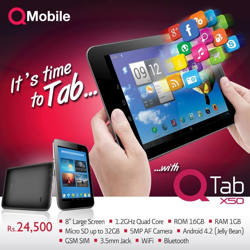 QMobile Tablet QTab X50 Price in Pakistan