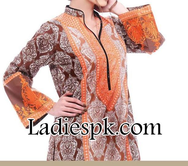 Yahsir Waheed Spring Summer Lawn Collection 2014 for Women Kameez Design