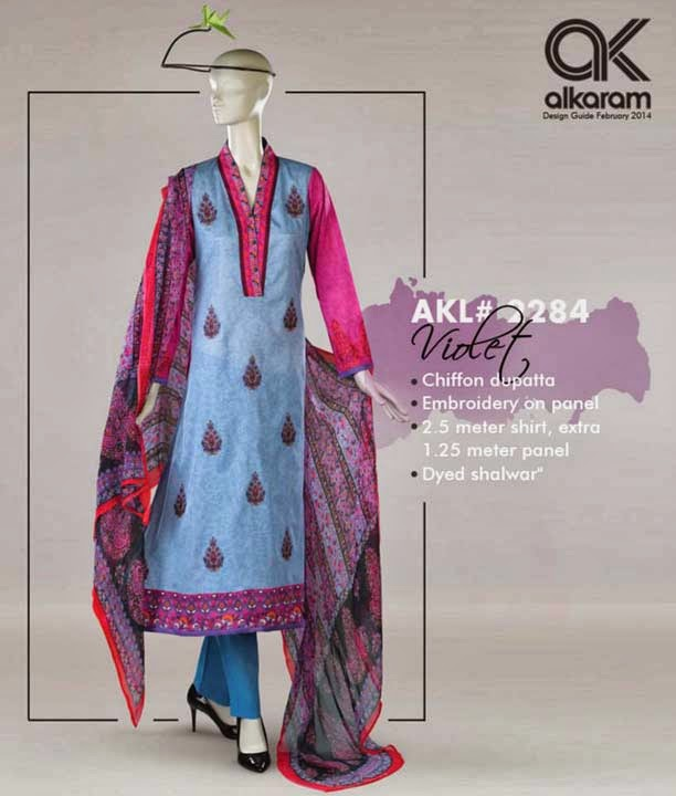 Alkaram Summer Lawn Collection 2014 Catalogue Vol-2 with Price for Women and Girls