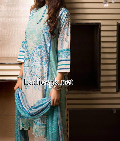 Price Khaadi Lawn - Eid Collection 2014 for Women and Girls Kameez Shalwar Designs PKR-5,800