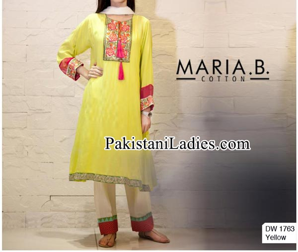 Facebook-Maria-B-Prices-embroidered-Neckline-Designs-With-Laces-Party-Evening-Wear-Dresses-2014-2015-Kameez-Design-for-Women-and-Girls