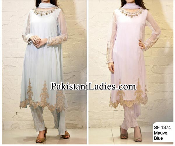Facebook Maria B Prices Party Evening Wear Wedding Shalwar Kameez Design Dresses 2014 2015 Design for Women and Girls PKR-15,500
