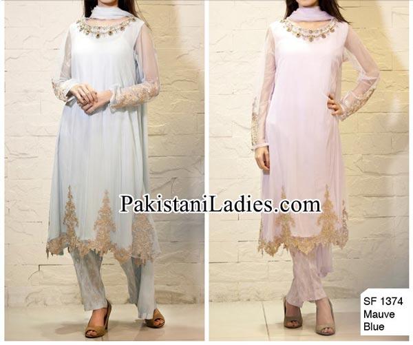 Facebook Maria B Prices Party Evening Wear Wedding Shalwar Kameez Design Dresses 2014 2015 Design for Women and Girls PKR-15,500