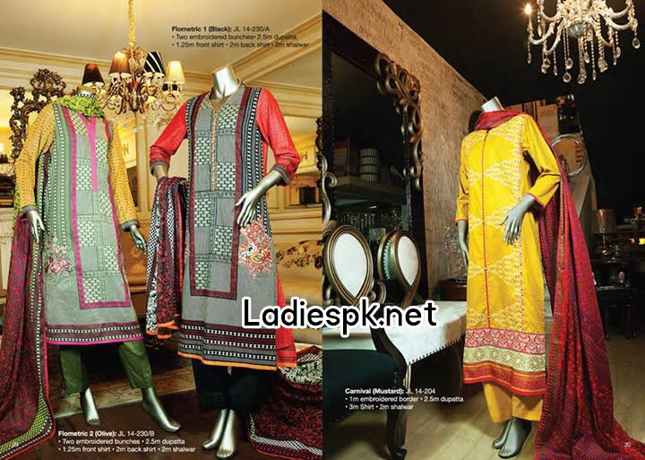 JJ junaid jamshed eid collection 2014 catalogue for Women & Girls