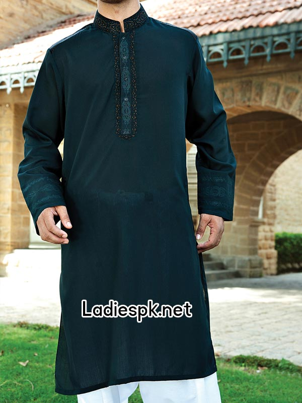 JJ Junaid Jamshed Eid Kurta Design Collection 2014 with Price for Men Boys Gents Summer Fashion  PKR-3785