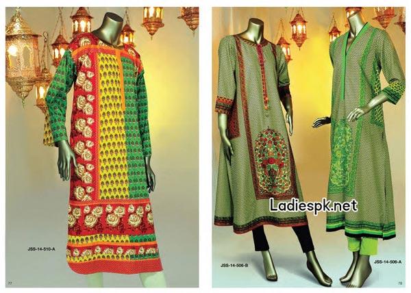 Junaid-Jamshed-Eid-Kurti-Collection-2014-for-Women Girls Dresses Fashion Trend