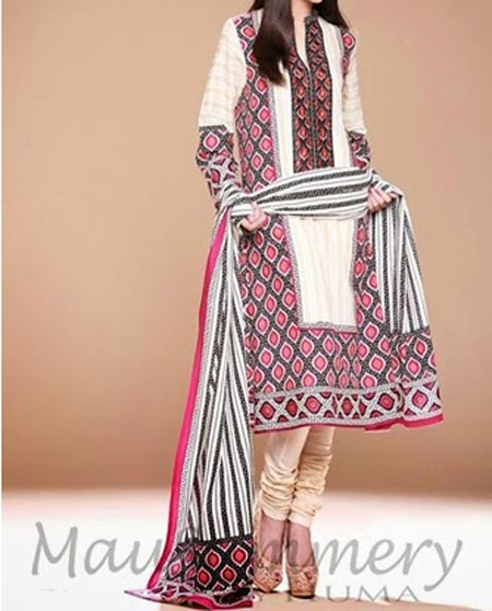 Lawn-Collection-2014-for-Summer-Mausummery-by-Huma for Women Facebook Fashion