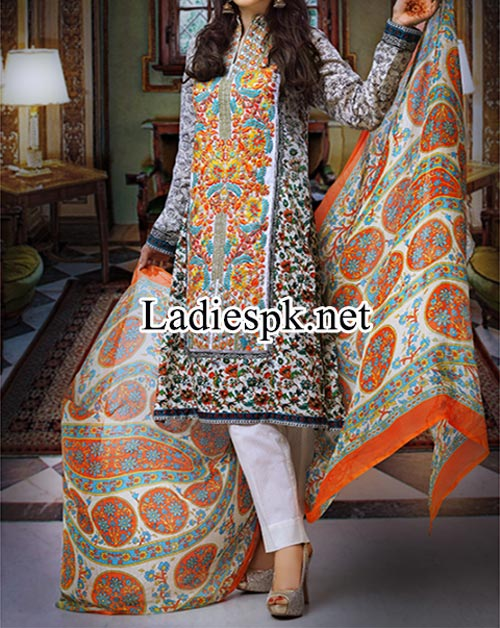 Lawn Shalwar Kameez Design Fashion 2014 Women Eid Dresses Collection for Girls Salwar Trend