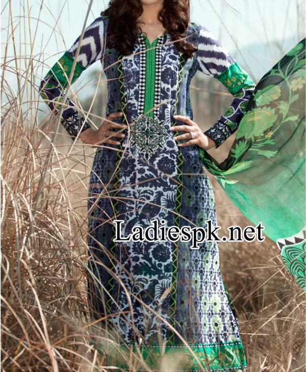 Maria-B-Eid-Summer-Lawn-Collection-2014-with-Price-for-Women-Shalwar-Kameez-Designs-Girls-Fashion-PKR-5,250