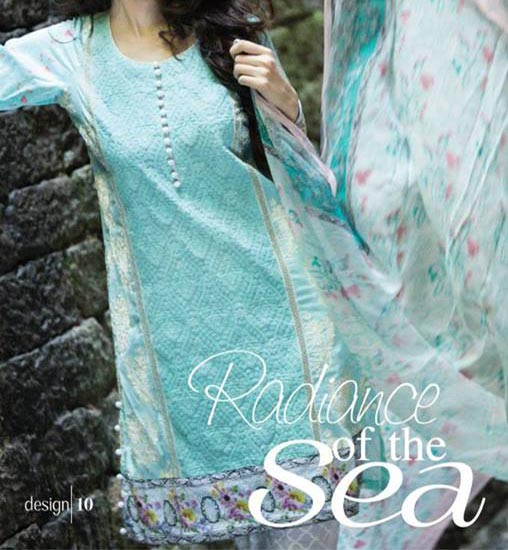 MARIA.B Festive EID Lawn Collection 2014 for Women Shalwar Kameez Designs girls