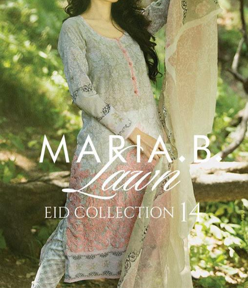 MARIA.B Festive EID Lawn Collection 2014 for Women Shalwar Kameez Fashion Trend for Girls