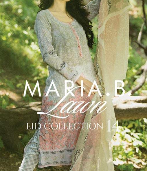 MARIA.B Festive EID Lawn Collection 2014 for Women Shalwar Kameez Fashion Trend for Girls
