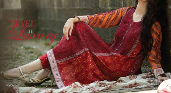 MARIA.B Festive EID Lawn Collection 2014 for Women Shalwar Kameez for Girls