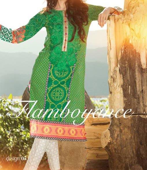MARIA.B Festive EID Lawn Collection 2014 for Women Shalwar Kameez
