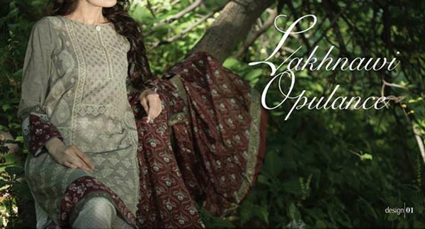 MARIA.B Festive EID Lawn Dresses Collection 2014 for Women Shalwar Kameez Fashion Trend for Girls