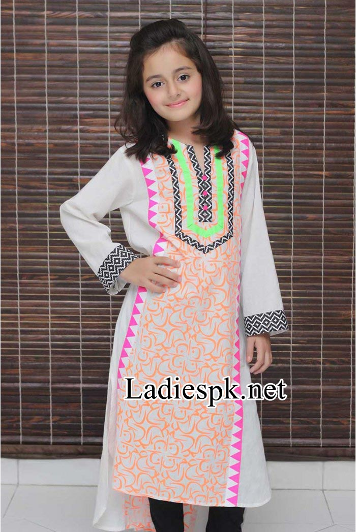 Maria-B-Kids-Eid-Dresses-Design-Collection-2014-with-Price-for-Girls-Long-Shirt-Choori-Pajama-Black-PKR-2,550