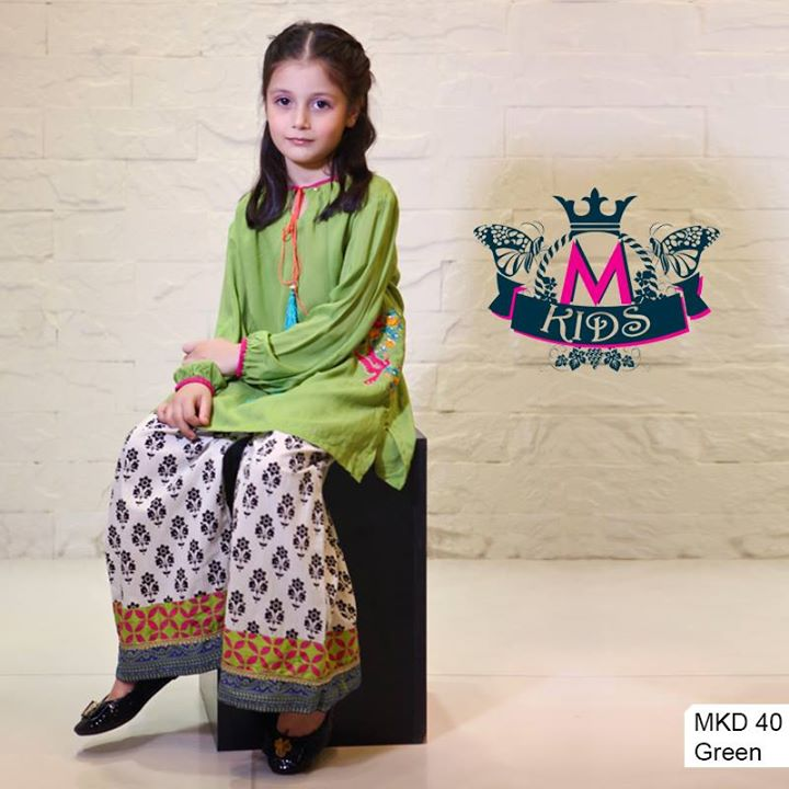 Maria B Kids Party and Wedding Dresses Design Collection 2014 2015 for Girls Facebook Shalwar Kameez Fashion